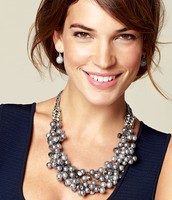 Isadora Pearl Bib Necklace