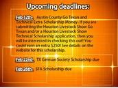 More February Deadlines