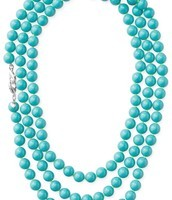 La Coco Beaded Turquoise Necklace