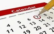 Important Classroom Dates