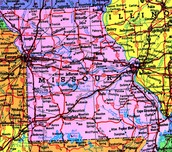 this is a map of missouri.