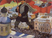 "Famous painting ""Bolshevik"" by Boris Kustodiev"