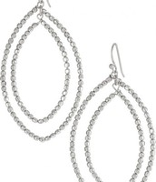 Bardot Hoop Earrings in Silver