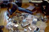 Kelvin building his Generator