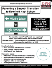 2nd/FINAL Posting - Parenting a Smooth Transition to Deerfield High School