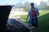 Thank You Mr. Phillips for grilling the tasty hamburgers!