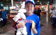 Eric and his stuffed dog...