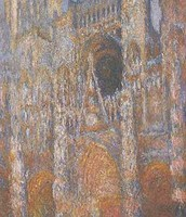 Rouen Cathedral, The Façade in Sunlight 1894