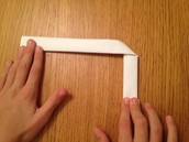 Now you need to fold it like this and tape it together