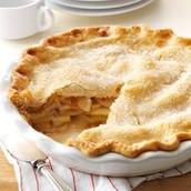 une tarte aux pommes