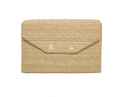 City Slim Clutch Metallic with Silver Chain Strap