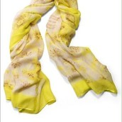 Citrine Floral Palm Springs Scarf