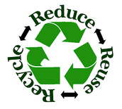 Reduce, Reuse and Recycle to help save our planet one step at a time!
