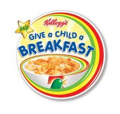 Give a child a breakfast
