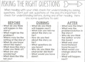 Questions help a child understand the text