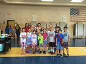 Mrs. Wiley's Homeroom at the Reflections Ceremony pictured with Miss Denton
