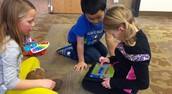 1st Graders programming Dash with Xylo attachment