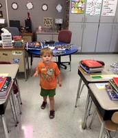 My 5th Grade Classroom and my son, Ayden