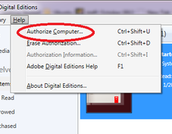 """Go to the """"Help"""" menu and choose """"Authorize Computer."""""""