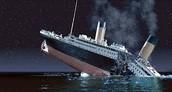 The Titanic cracking in half