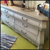 Light Gray 6-Drawer Bedroom Dresser: $475