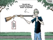 Political Cartoon- Second Amendment