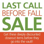 LAST CALL BEFORE FALL SALE