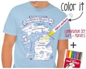 Color MI Michigan T-shirt Kit