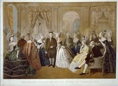 Ben Franklin with the French Aristocrats