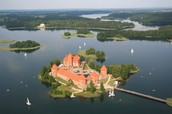 tourist castle in Lithuania