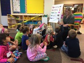 Guided discovery with Mrs. Anderson's class.