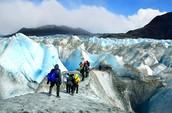 Glaciar caminar en Patagonia