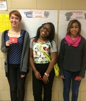Tia Battle, Jasmine Frye and Caroline Hughes also won a $25.00 gift card from Target!