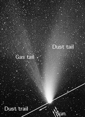 What are the parts of a comet?