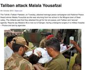 Taliban attack Malala Yousafzai