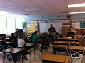 Mayor Johnson in Mr. Warpula's Class