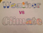 Weather is different than climate