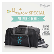 Hostess Special - All Packed Duffle