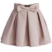 la falda blanco de algondo