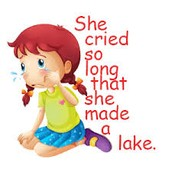 She cried so long that she made a lake