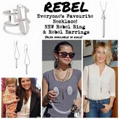 Rebel Collection! Available in silver and gold!!