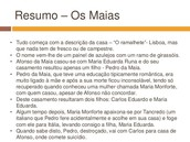 OS MAIAS-RESUMO PRIMEIRO CAPITULO