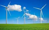 wind mills in grass