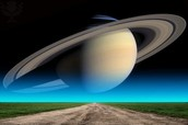 Saturn from earth