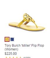 des sandales jaunes