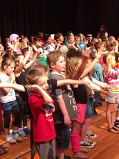 Yup! We Rocked the 80's in our All School Concert!!
