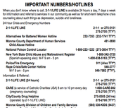 Hotlines  list for drugs and many other problems