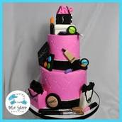 Mac Inspired Cake 💄