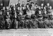 Elizabeth with her national women's suffrage association