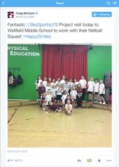Sky Sports Living Athlete Visit